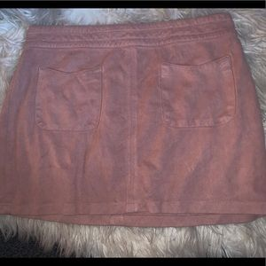 Kendall and Kylie suede pink skirt